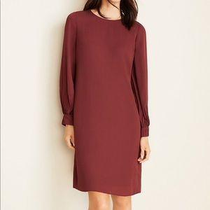 NWOT Ann Taylor Houndstooth Lantern Sleeve Dress